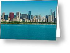 Chicago's Lakefront Panorama Greeting Card