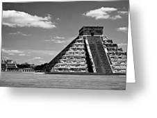 Chichen Itza Blk Wht Greeting Card