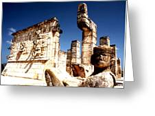 Chichen Itza - Chac Mool Guardian Greeting Card