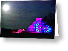 Chichen Itza Full Moon Greeting Card