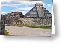 Chichen Itza - Mexico. View On El Castillo Pyramid. Greeting Card