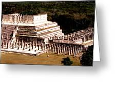 Chichen Itza - Temple Of Columns Greeting Card