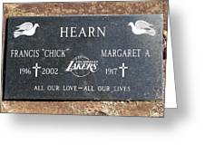 Chick Hearn Grave Greeting Card