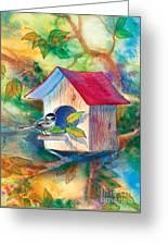 Chickadee Bungalow Greeting Card