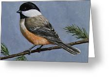Chickadee Charm Greeting Card by Crista Forest