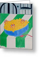 Chickadee Chick Macaroni Greeting Card