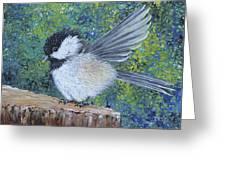 Chickadee Landing Greeting Card