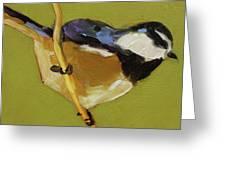 Chickadee V Greeting Card