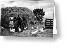 Chicken Farmers, 1939 Greeting Card