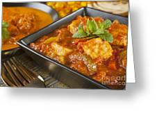 Chicken Jalfrezi Curry Greeting Card by Colin and Linda McKie