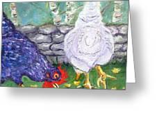 Chicken Neighbors Greeting Card
