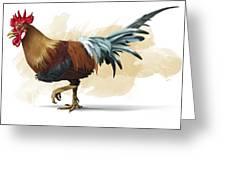 Chickenosaurus, Artwork Greeting Card