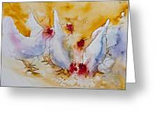 Chickens Feed Greeting Card