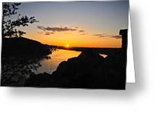 Chickies Rock Sunset 7 Greeting Card
