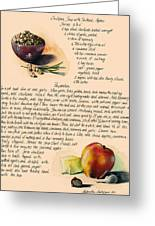 Chickpeas Soup With Apples Greeting Card by Alessandra Andrisani
