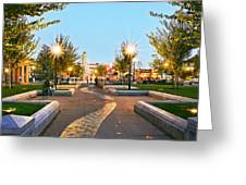 Chico City Plaza Horizontal Greeting Card