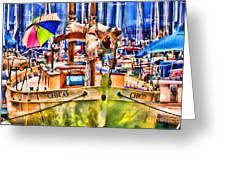 Chico Sail Boat By Diana Sainz Greeting Card