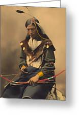 Chief Bone Necklace Of The Lakota 1899 Greeting Card