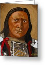 Chief Hollow Horn Bear Greeting Card