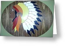 Chief In Cherry Greeting Card