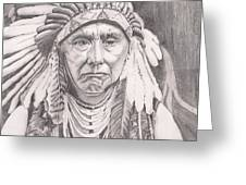 Chief Joseph Greeting Card by Beverly Marshall
