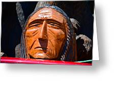 Chief Looking Greeting Card