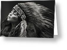 Chief Of Her Dreams Greeting Card