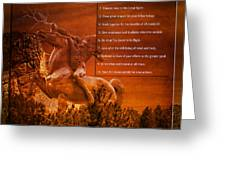 Chief Shabbona And The Ten Indian Commandments Greeting Card