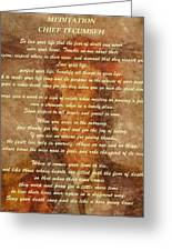 Chief Tecumseh Poem Greeting Card