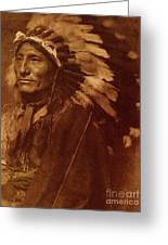 Chief Whirling Horse Greeting Card