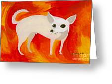 Chihuahua En Fuego Greeting Card