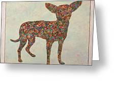 Chihuahua-shape Greeting Card by James W Johnson