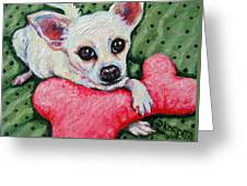 Chihuahua Who Came To Visit Greeting Card