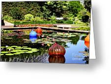 Chihuly Ball Lily Pond Greeting Card
