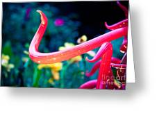 Chihuly In Fushia Greeting Card by Sonja Quintero