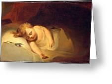Child Asleep Greeting Card