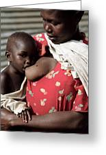 Child Breastfeeding Greeting Card