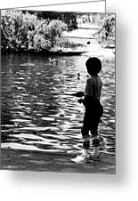 Child Fishing Greeting Card