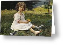 Child In The Meadow Greeting Card
