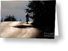 Child On Bicycle, Italy Greeting Card