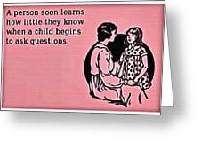 Child Questions Greeting Card