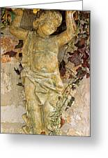 Child Sculpture With Garpes Greeting Card by Linda Phelps