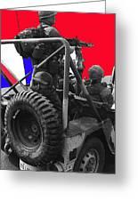 child soldier 100th anniversary parade nogales Arizona 1980-2012 Greeting Card