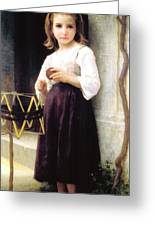 Child With A Ball Of Wool Greeting Card