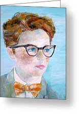 Child With Glasses Greeting Card