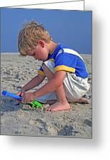 Childhood Beach Play Greeting Card