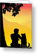 Childhood Dreams 4 Best Friends Greeting Card by John Edwards