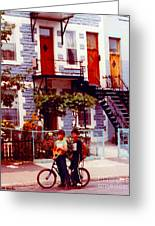 Childhood Montreal Memories Balconies And Bikes The Boys Of Summer Our Streets Tell Our Story Greeting Card