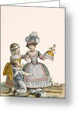 Children At Play, Engraved By Patas Greeting Card