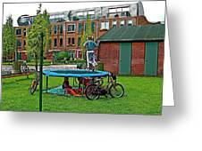 Children At Play In Enkhuizen-netherlands Greeting Card